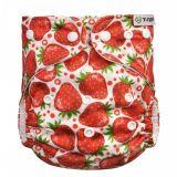 T-TOMI Nohavičková plienka AIO - prebaľovací set patentky - strawberries