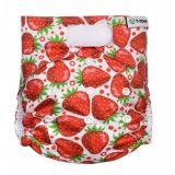 T-TOMI Nohavičková plienka AIO - prebaľovací set suchý zip - strawberries