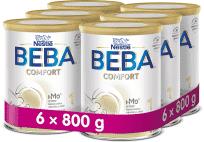 6x BEBA COMFORT 1 HM-O, počáteční mléčná kojenecká výživa, 800 g