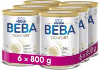 6x BEBA COMFORT 2 HM-O, následná dojčenská mliečna výživa, 800 g