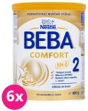 6x BEBA COMFORT 2 HM-O (800 g)- dojčenské mlieko