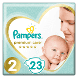 PAMPERS Premium Care 2 MINI (4-8 kg) 23 szt. Carry Pack – pieluchy jednorazowe