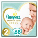 PAMPERS Premium Care 2 MINI (4-8 kg) 68 szt. Value Pack – pieluchy jednorazowe
