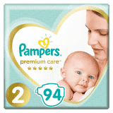 PAMPERS Premium Care 2 MINI (4-8 kg) 94 ks Jumbo Pack – jednorazové plienky