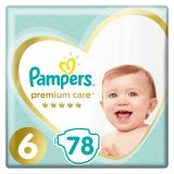 PAMPERS Premium Care 6 (13+ kg) 78 ks MEGA BOX – jednorazové plienky