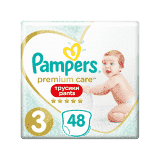 PAMPERS Premium Care Pants 3 MIDI (6-11 kg) 48 ks Value Pack – plenkové kalhotky