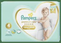 PAMPERS Premium Care Pants 4 MAXI (9-15 kg) 38 szt. Value Pack – pieluchomajtki
