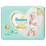 PAMPERS Premium Care Pants 5 JUNIOR (12-17 kg) 34 ks Value Pack – plienkové nohavičky
