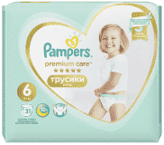 PAMPERS Premium Care Pants 6 MAXI (15+ kg) 31 szt. Value Pack – pieluchomajtki