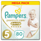 PAMPERS Premium Care Pants 5 JUNIOR (12-17 kg) 80 szt. MEGA BOX – pieluchomajtki