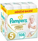 PAMPERS Premium Care Pants 5 JUNIOR (12-17 kg) 108 szt. ZAPAS NA MIESIĄC – pieluchomajtki