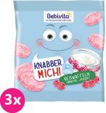 3x BEBIVITA Ryžové oblátky Maliny-jogurt 30 g