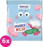 6x BEBIVITA Rýžové oplatky Maliny-jogurt