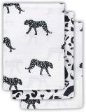 JOLLEIN Žínka balení 3 ks – Leopard black white