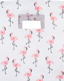 JOLLEIN Koš na hračky XL – Canvas Flamingo