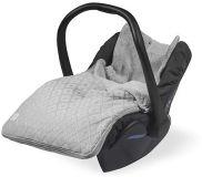 JOLLEIN Komfortný fusak do autosedačky Diamond knit – Grey