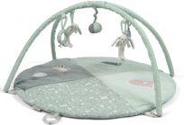 LITTLE DUTCH Plyšová hrající deka s hrazdičkou – Mint
