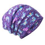 UNUO Fleecová čepice Jednorožci S (45 - 48 cm)