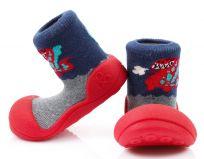 ATTIPAS Chlapecké botičky Dinosaur, vel. M - červená