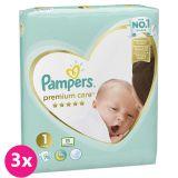 PAMPERS Premium Care 1 NEWBORN 234 ks (2-5 kg) MESAČNÉ BALENIE - jednorazové plienky
