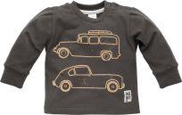 PINOKIO Tričko dlhý rukáv Old Cars veľ. 80 – grafitová