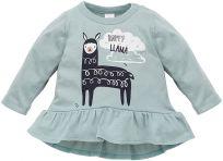 PINOKIO Tunika Happy Llama veľ. 74 – zelená