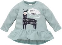 PINOKIO Tunika Happy Llama veľ. 80 – zelená