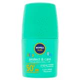 NIVEA Sun Protect & Care Dětské barevné mléko na opalování v kuličce OF 50+ 50 ml
