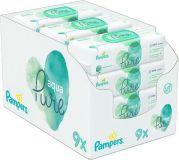 PAMPERS Aqua Pure Chusteczki nawilżane 9 x 48 szt.