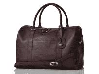 PACAPOD Firenze claret luxusní kožená kabelka i přebalovací taška
