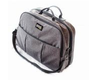 BIZZI GROWIN Cestovní a přebalovací taška Pod 2v1 Šedá