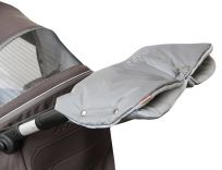 EMITEX rukávník DUO 2v1 PAD/fleece tmavá šedá/světlá šedá