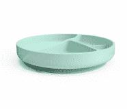 EVERYDAY BABY Silikonový talíř s přísavkou Mint Green