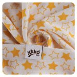 KIKKO Bambusové pleny BMB 70x70 - Little Stars Orange MIX 3ks