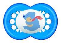 MAM Dudlík Original 6m+, silikon modrý medvěd