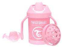 TWISTSHAKE Hrnek učicí 230 ml (4 m+) pastelově růžová
