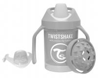 TWISTSHAKE Hrnek učicí 230 ml (4 m+) pastelově šedá