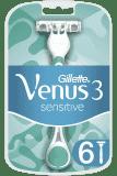 GILLETTE Venus 3 Sensitive 6 ks - jednorazové dámske holiace strojčeky