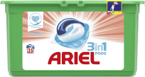 ARIEL Gelové kapsle Sensitive 3in1 35 ks