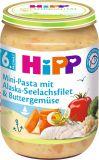 HIPP Mini těstoviny s aljašskou treskou v máslové zelenině (6m+) 190 g