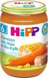 HiPP Príkrm zeleninovo-mäsový BIO Mrkva s kukuricou a teľacím mäsom 190g
