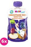 6x HiPP BIO Smoothie Jablko-Hruška-Borůvky, 100 g – ovocný příkrm