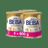 3x BEBA Comfort HMO 1 (800g) - dojčenské mlieko