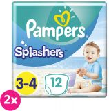 2x PAMPERS Pants Splashers Carry Pack veľ. 3-4 (6-11 kg), 12 ks - jednorazové plienky do vody