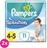 2x PAMPERS Pants Splashers Carry Pack veľ. 4-5 (9-14 kg), 11 ks - jednorazové plienky do vody