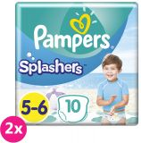 2x PAMPERS Pants Splashers Carry Pack vel. 5-6 (14+ kg), 10 ks - jednorázové pleny do vody