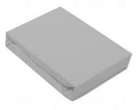 BABY MATEX Detská plachta Jersey s gumou (60x120 cm) šedá