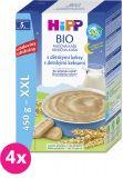 4x HiPP BIO Na dobrou noc s dětskými keksy 450 g – mléčná kaše