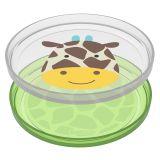 SKIP HOP Zoo talířek protiskluzový 2v1 - Žirafa 6m+