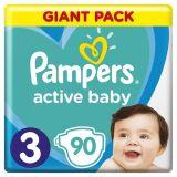 PAMPERS Active Baby 3 MIDI (6–10kg) 90 ks – jednorazové plienky